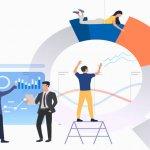 Ilustração de google analytics para análise de blog
